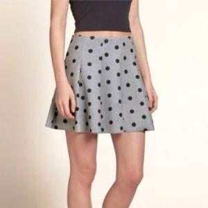 Hollister Skater Polka Dots Skirt